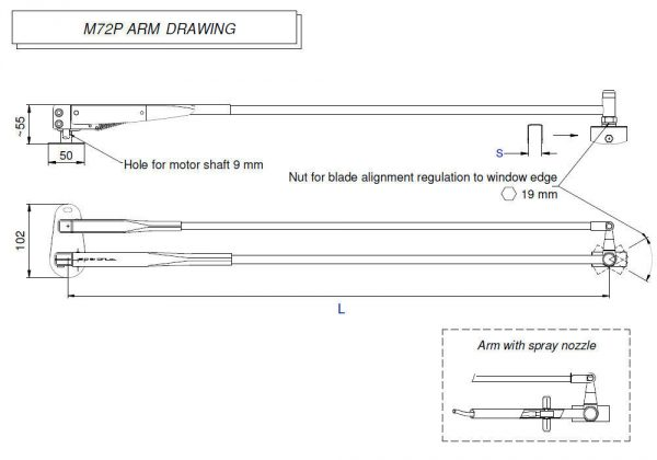 M72P Arm drawing
