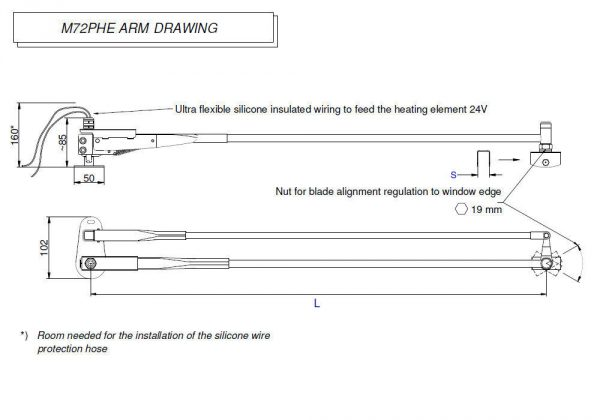 M72PHE Arm drawing