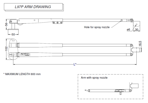 L97P Arm drawing