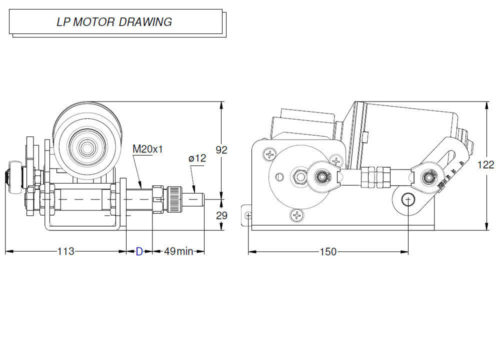 LP Motor drawing