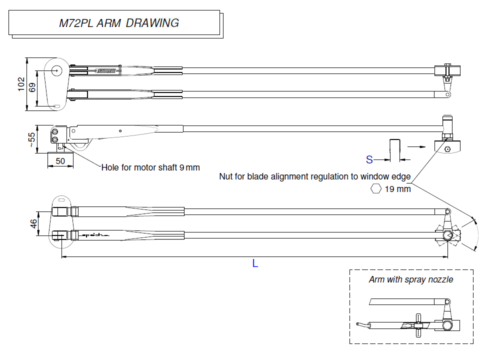 M72PL Arm drawing
