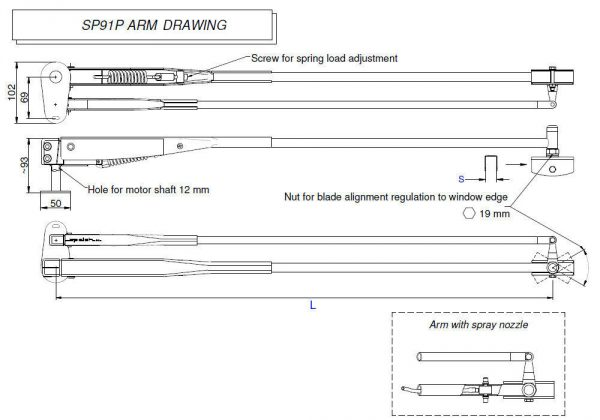 SP91P Arm drawing